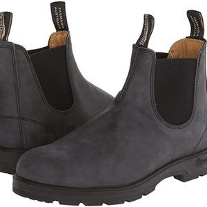 Blundstone 587 Leather Boots in Rustic Black